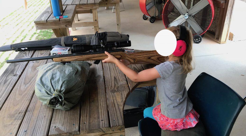 Child Shooting Rifle